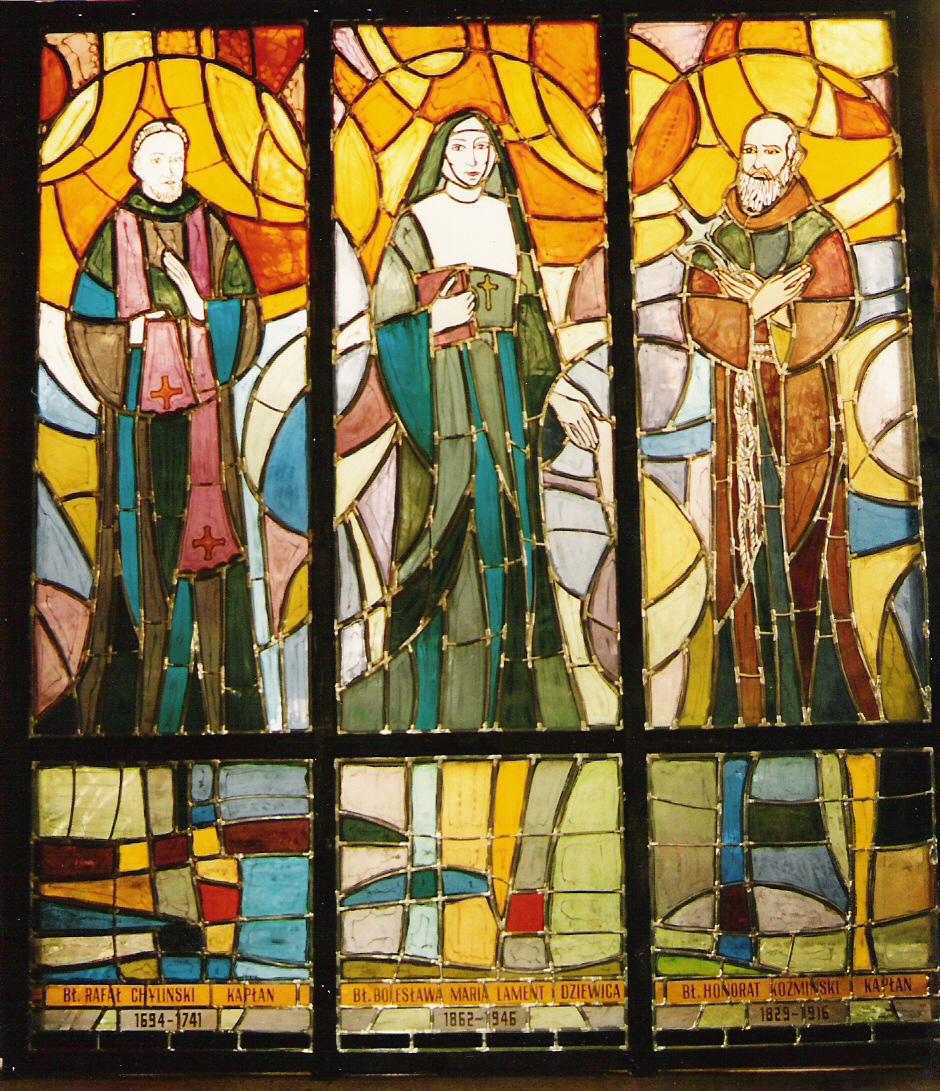 Witraże z Domu Pielgrzyma im. Jana Pawła II w Rzymie
